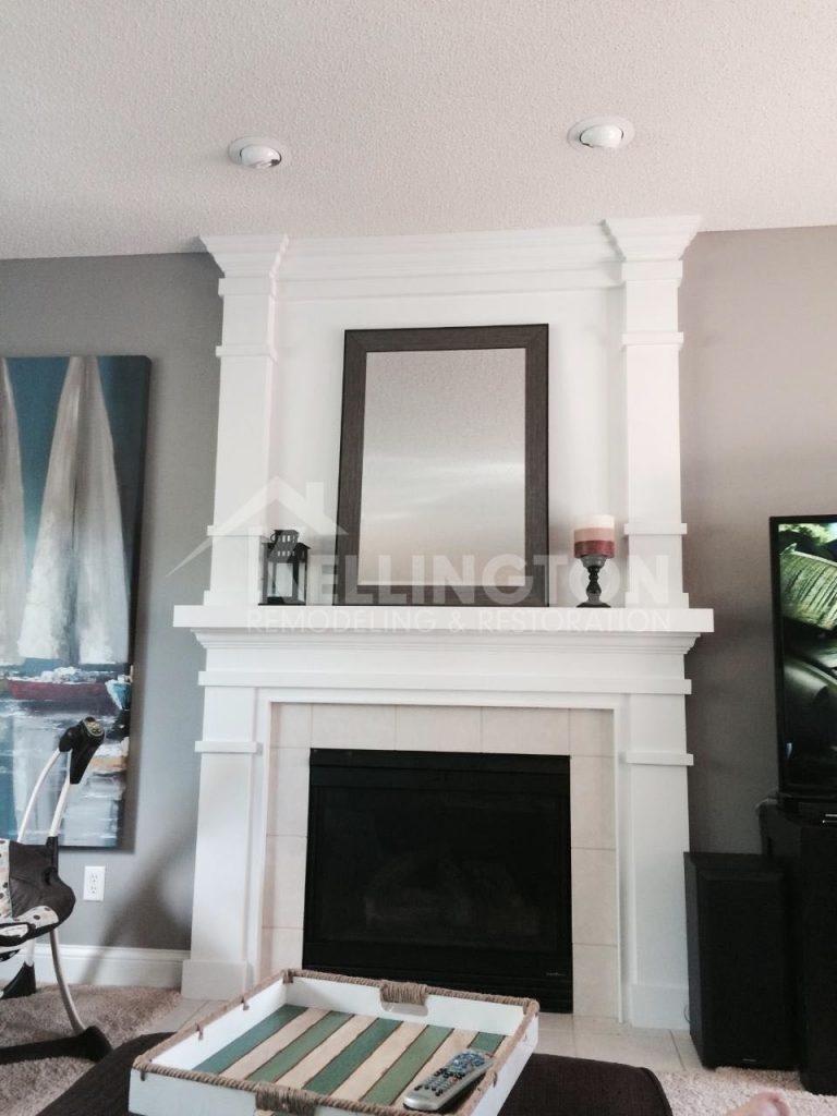 Fireplace renovation by Kellington restoration and remodeling